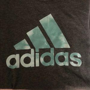 Grey and blue adidas shirt